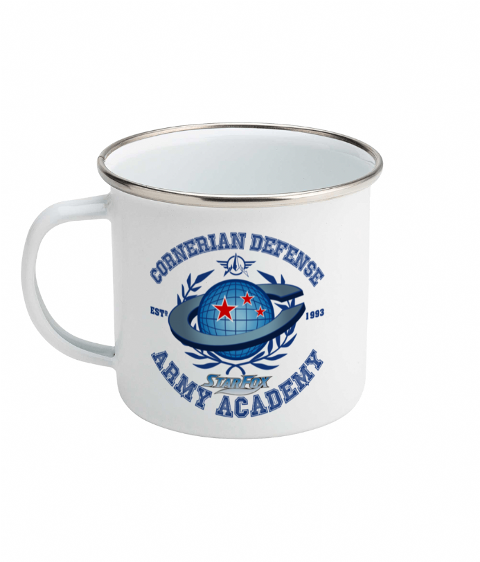 Cornerian Defense Army Academy Enamel Camping Mug inspired by Star Fox